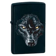 <b>Зажигалка</b> широкая <b>Zippo</b> Black <b>Wolf</b> 28001 на <b>ZIPPO</b>-RUSSIA.RU