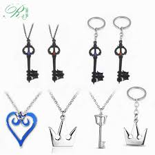 RJ <b>Kingdom Hearts</b> Key Heart Keychains Pendant Sora <b>Crown</b> ...