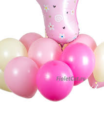 """Новорожденным - Набор <b>воздушных шаров</b> """"Это девочка!"""""""