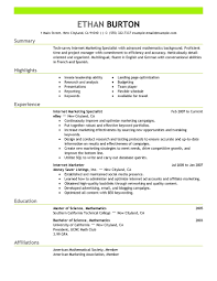 internet marketing resume templates cipanewsletter cover letter marketing resume sample branch marketing assistant