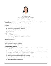 examples of resumes excellent resume for work goals examples of resumes resume template work objective resume career objectives in regard to 81