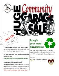 gray mockingbird community garage garage flyer