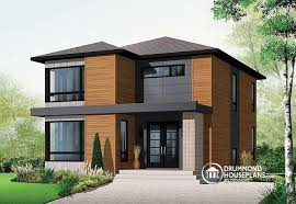 House plan W detail from DrummondHousePlans com    front   ORIGINAL MODEL Attractive  amp  Affordable Small Contemporary Design  bedrooms   family