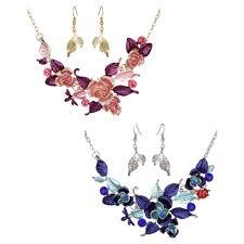 1 Set <b>ROMAD</b> Earrings Pendant Waterdrop Necklace Rotic <b>Crystal</b> ...