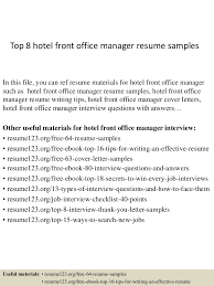 top8hotelfrontofficemanagerresumesamples 150410091057 conversion gate01 thumbnail 4 jpg cb 1428657069