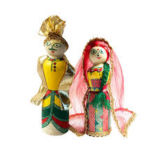 Handmade Manjusha Art <b>Wooden Bride Groom</b> ₹1000.00