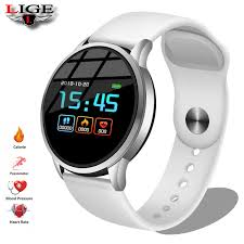 <b>LIGE</b> New <b>Smart</b> Watch Men Android Phone Call Relogio SIM TF ...