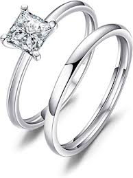 <b>JewelryPalace Princess</b> Cut 0.6ct <b>Cubic Zirconia</b> Wedding Band ...