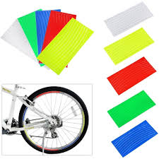 Fashionable Fluorescent Reflector Stickers <b>Tire Wheel</b> On The <b>Bike</b> ...
