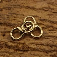 2019 10x33mm <b>Solid Brass</b> Metal Buckle Snap Hook Swivel Ring ...