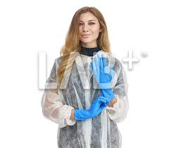 <b>Перчатки нитриловые</b> «ХАЙ РИСК» синие, L - Labplus