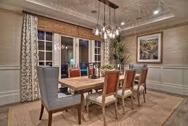 image of modern rustic chandelier casual dining room lighting