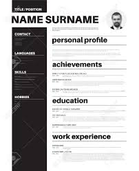 vector mini st cv resume template nice typogrgaphy vector vector mini st cv resume template nice typogrgaphy design