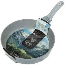 <b>Сковорода с мраморным покрытием</b> Daniks Гранит Олимп серая ...