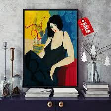 <b>HD Print</b> Itzchak Tarkay <b>Home Decorative</b> Painting Watercolor ...