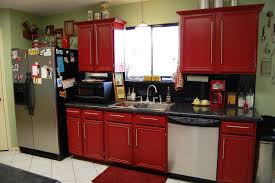 Red Tile Paint For Kitchens Kitchen Ideas Stylish Black And Red Contemporary Glass Kitchen