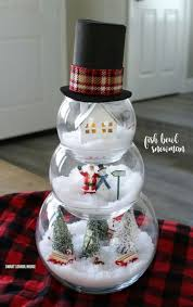 household dining table set christmas snowman knife: step fill your  fishbowls that stack of  different sizes with fake snow put small decorations in each bowl to make winter scenes