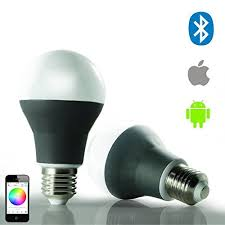 bluetooth E27 <b>Smart LED Night Light</b> with Speaker Dimmable ...