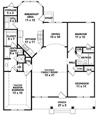 images about House Plans on Pinterest   Ranch Style House    One story bedroom  bath Ranch style house plan which features a split plan design  open concept family kitchen breakfast area  bay window in break