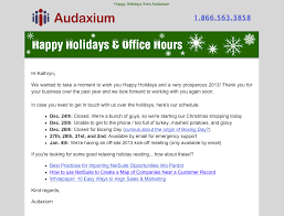 7 examples of successful email templates a case study audaxium holiday email