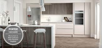 modern fitted kitchen large house england