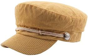 Hat <b>Autumn</b> and <b>Winter Corduroy Striped</b> Flat Cap Student Hat Rope ...