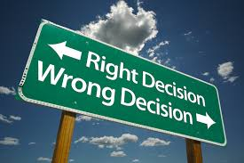 wrong way wednesday rescheduling an interview wise work right decision wrong decision road sign