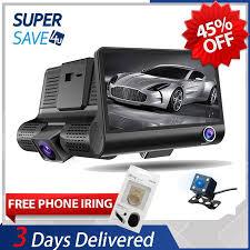 READY STOCK  <b>3 lens Car</b> cam Front/Inside/Rear 1080HD Car ...
