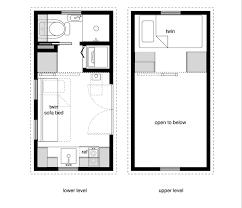 Tiny House Floor Plans   Lower Level Beds   Tiny House Design x x