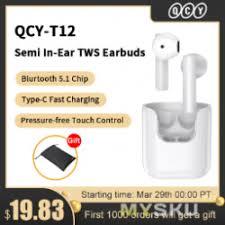 <b>Беспроводные</b> TWS-<b>наушники QCY T12</b> с кодеком AAC и портом ...