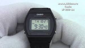 <b>Мужские</b> японские наручные <b>часы Casio W</b>-<b>202</b>-<b>1A</b> - YouTube