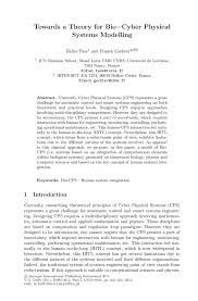 towards a theory for bio cyber physical systems modelling springer inside