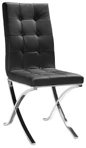 Tufted Leather Dining Room Chairs Dining Room Decoration Using Tufted Black Leather Wooden Dining