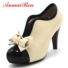 <b>ANMAIRON New Fashion</b> Spring/Autumn <b>Style</b> Bow Ankle Boots ...