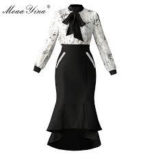 <b>MoaaYina</b> Fashion <b>Designer Runway Set</b> Summer Women Long ...