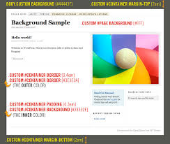 How to Add Custom Backgrounds to the Thesis WordPress Theme custom background sample on the Thesis Theme