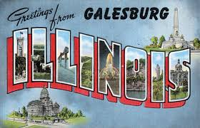 Greetings from Galesburg, Illinois - Vintage Postcard