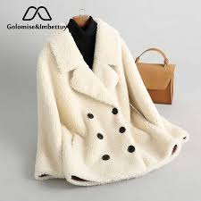Golomise&Imbettuy <b>Real Composite Shearling</b> Lamb Fur Coat ...