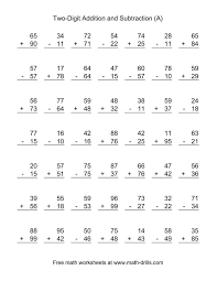 Addition And Subtraction Worksheets Printable - Free addition and ...Free addition and subtraction worksheets for grade 1 loisary