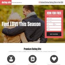 Dating landing page design templates for your online dating website