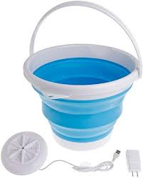 Portable Ultrasonic Turbine <b>Washing</b> Machine with <b>Foldable</b> Bucket ...