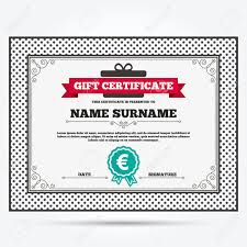 gift certificate euro sign icon eur currency symbol money gift certificate euro sign icon eur currency symbol money label template