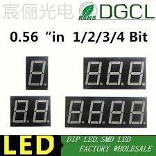"<b>5pcs 1 / 2</b> / <b>3 / 4</b> bit 0.56"" 0.56in. Red/green/blue/white LED Display ..."