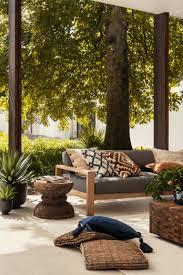 Cotton Canvas Cushion Cover - <b>Natural</b> white/<b>dark blue</b> - Home All ...