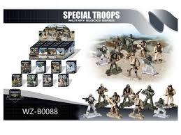 <b>Конструктор Junfa</b> Специальные войска. Фигурки солдатиков ...