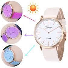 <b>New Fashion Simple</b> Style Temperature Change Color Women ...