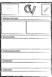blank printable resume template free printable  seangarrette coblank