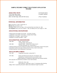 resume templates 5 simple sample format for students servey 5 simple sample resume format for students servey template sample sample resume formats