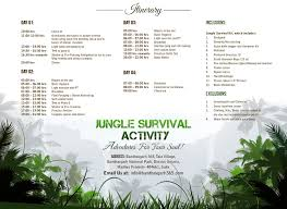 jungle survival activity itinerary image