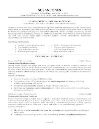 resume examples  professional profile resume examples basic resume    profile resume examples for pharmaceutial sales management   professional experience